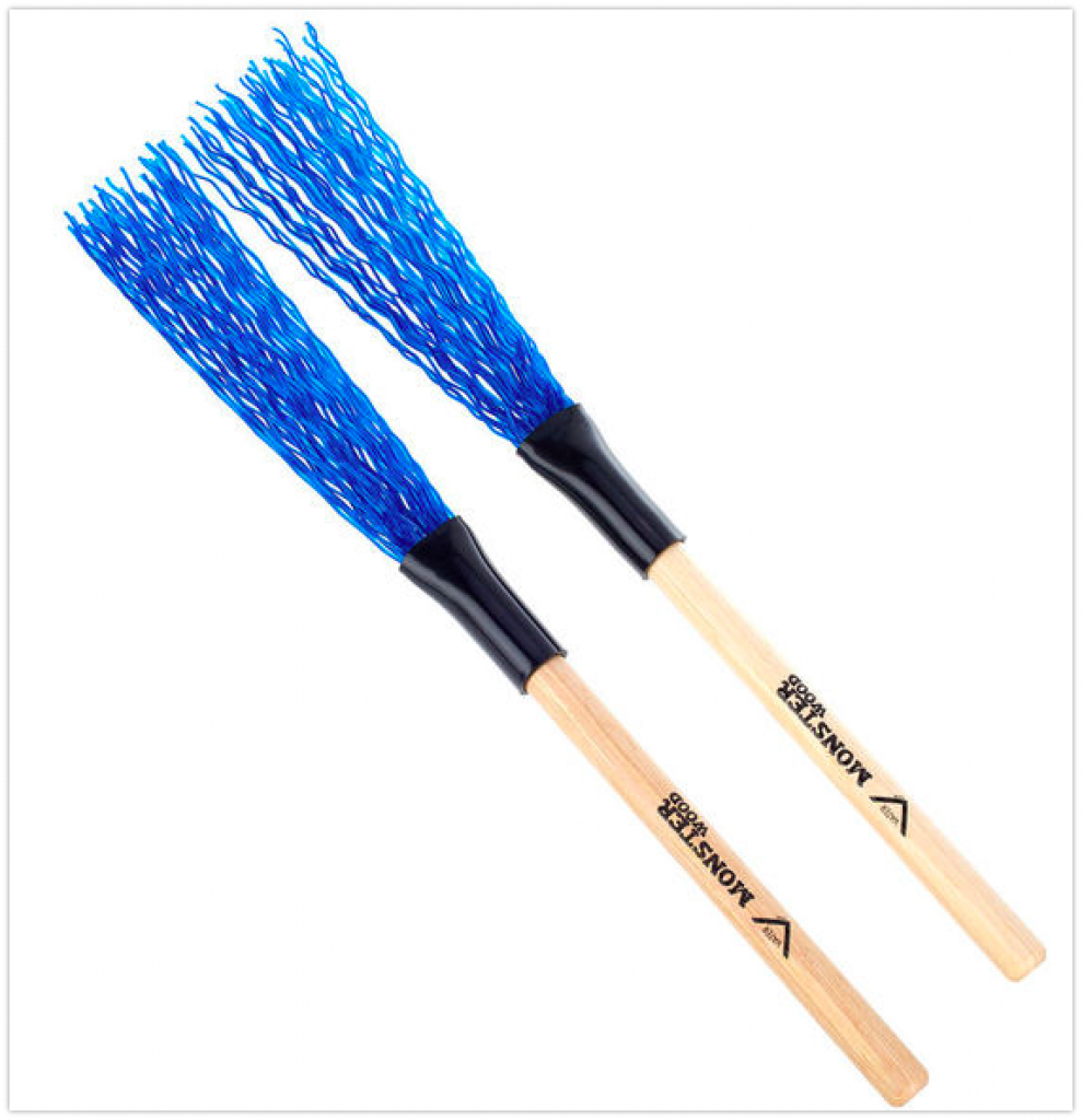 Nrpfell 2 Pairs Drum Sticks Brushes Rute Jazz Drumsticks Practical Drumsticks for Skilled Drummers to Create New Sound of Drum