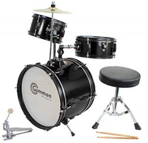 Drum Set Black Complete Junior – Real Drum Set for Kids