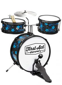 First Act Discovery & Seat, Blue Stars (FAD0139) – The Best Beginners Drum Set for Kids