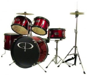 GP Percussion GP55WR 5-Piece Junior Drum Set – Great Beginner Drum Set