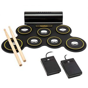 Ivation Portable Electronic Drum Pad – Amazing Electronic Drum Set for Kids