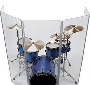 Drum Shield 6 Panel Drum Shield with Deflectors 5 Feet Tall DS5DL – Go for It if You Need a Powerful Shield