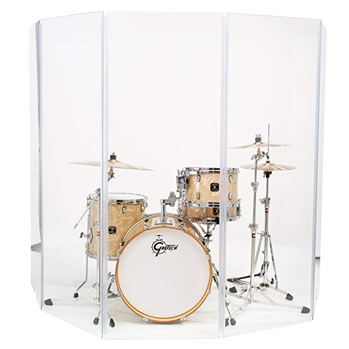 Drum Shield DS4 5 Panels – An Ideal Drum Booths for Churches and Any Other Location