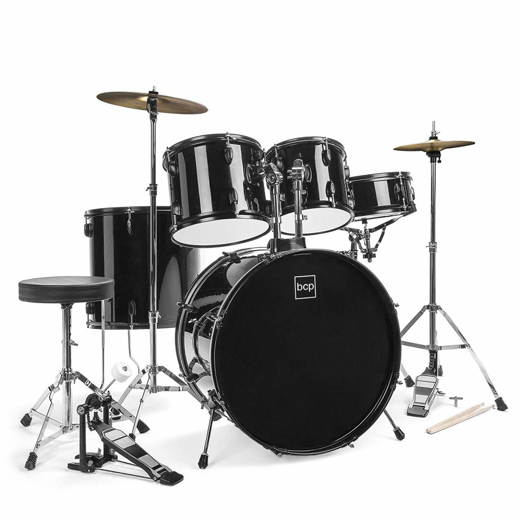Bcp 5 piece complete full size drum set - photo 2