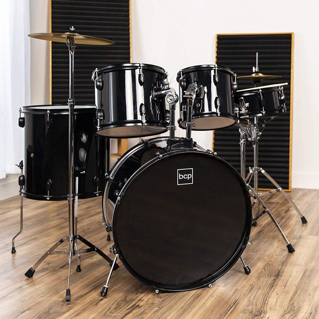 Bcp 5 piece complete full size drum set - photo 1