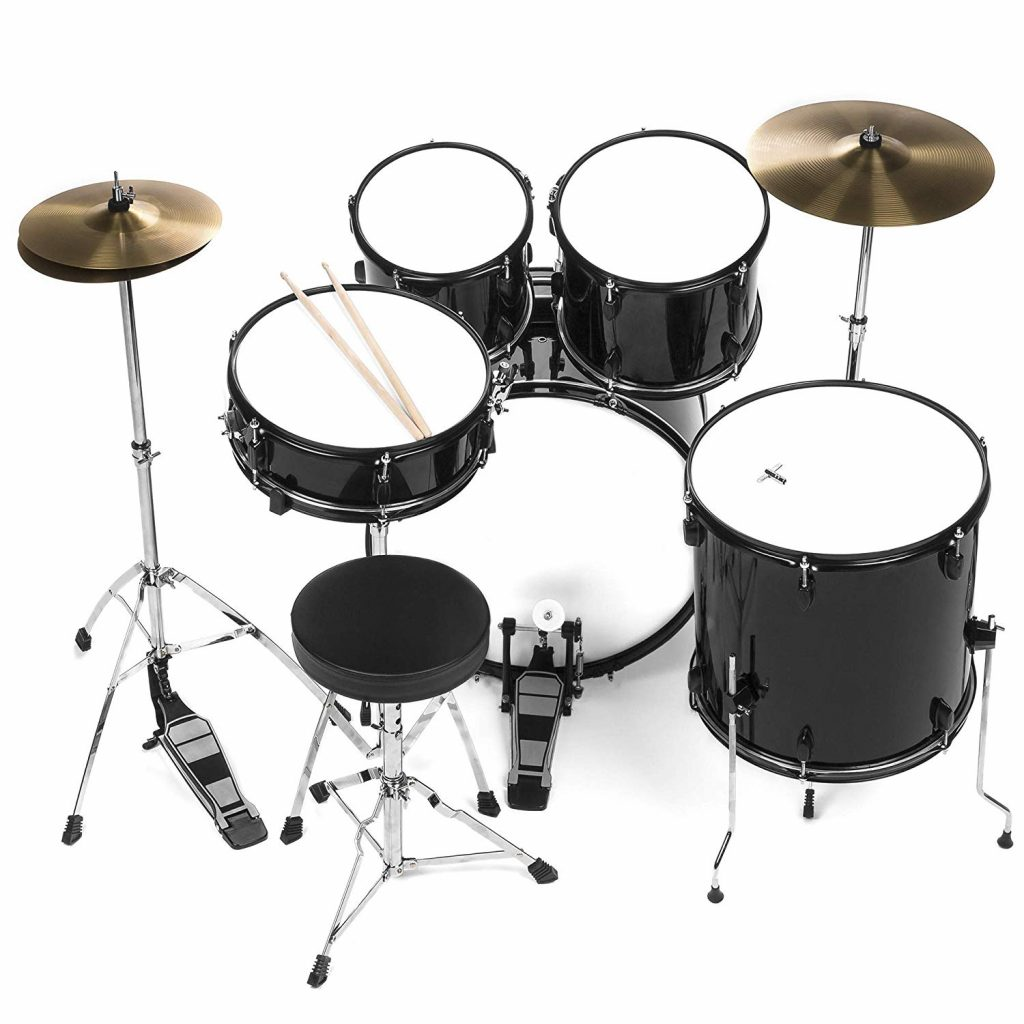 Bcp 5 piece complete full size drum set - photo 3