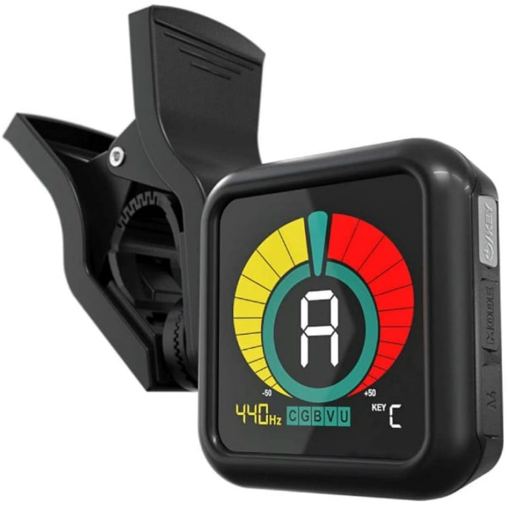 KLIQ-UberTuner-Professional-Clip-On-Tuner-for-All-Instruments-with-Guitar-Ukulele-Violin-Bass-Chromatic-Tuning-Modes