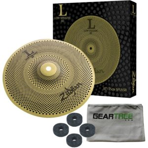 Zildjian-L80-Low-Volume-10-Inch-Splash-Cymbal-w-Geartree-Cloth-and-Cymbal-Felts