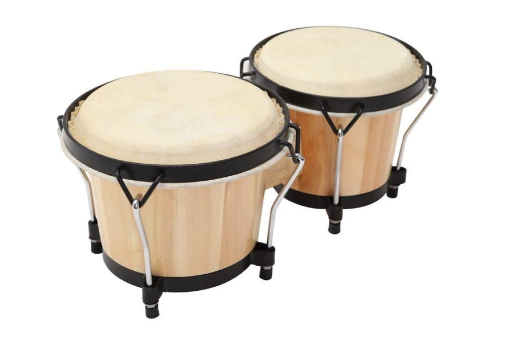 MUSICUBE Bongo Drum Set with Tuning Wrench photo 1