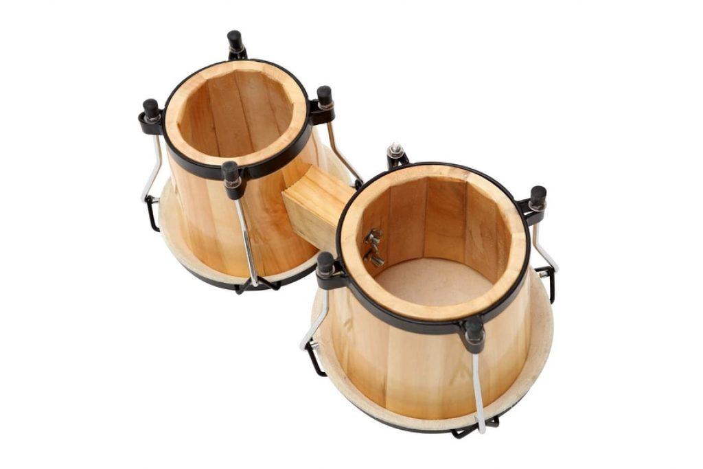 MUSICUBE Bongo Drum Set with Tuning Wrench photo 3