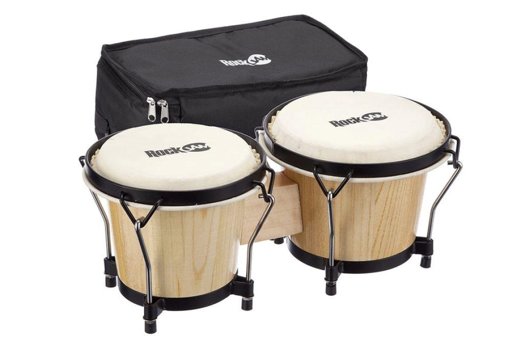 RockJam Bongo Drum Set with Padded Bag and Tuning Key photo 1