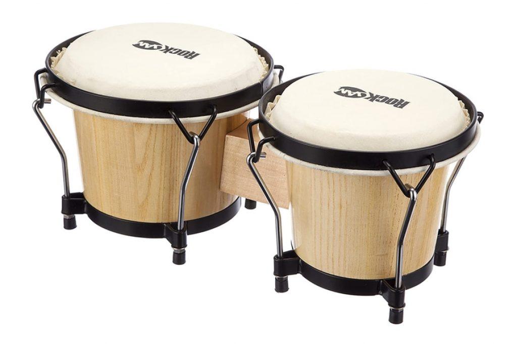 RockJam Bongo Drum Set with Padded Bag and Tuning Key photo 2