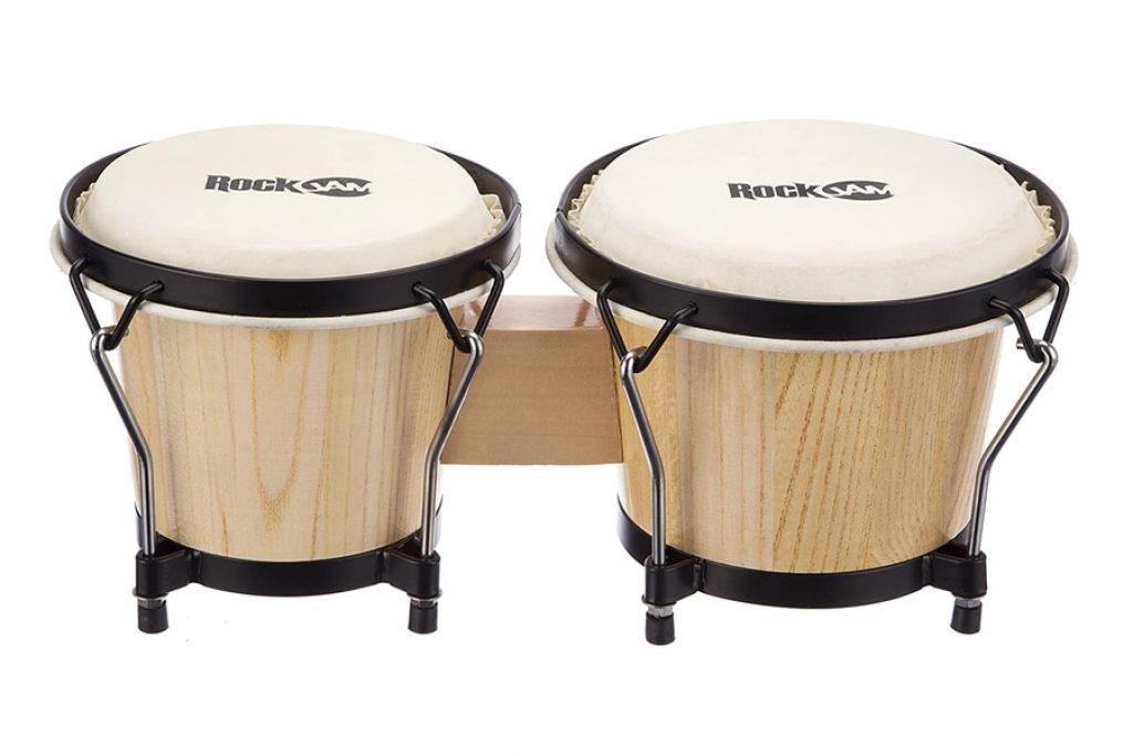 RockJam Bongo Drum Set with Padded Bag and Tuning Key photo 3
