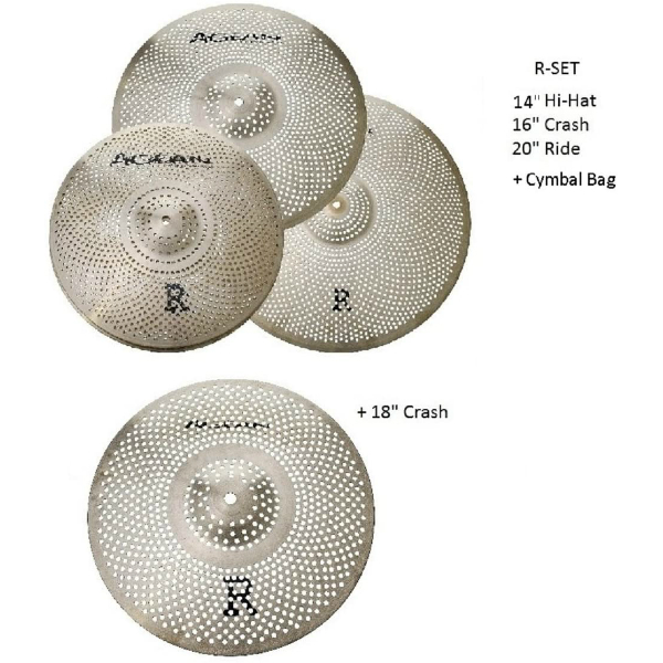 Agean-Cymbals-Silent-R-Series-Low-Volume-Cymbal-Pack-Box-Set18-Crash