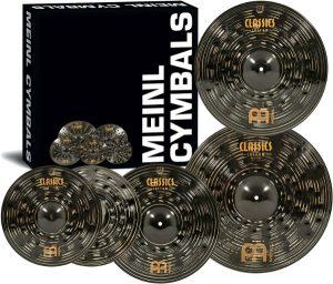 "Meinl-Cymbal-Set-Box-Pack-with-14""-Hihats-20""-Ride-16""-Crash-Plus-a-FREE-18""-Crash-–-Classics-Custom-Dark"
