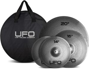 UFO-Low-Volume-Cymbal-Pack-Quite-Practice-Cymbals-FREE-Cymbal-Bag-included