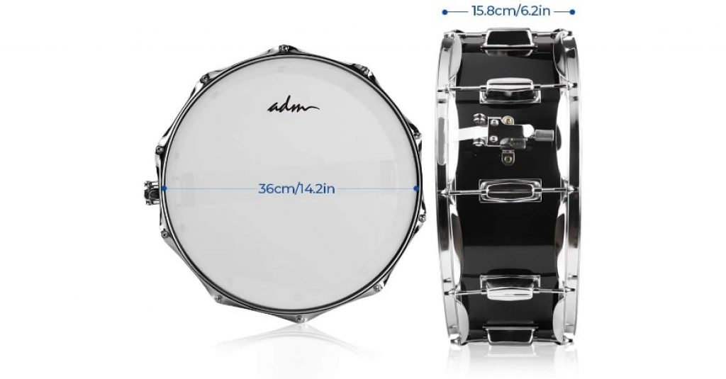 ADM Student Snare Drum Set sizes
