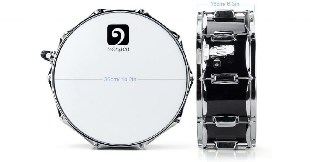 Vangoa Snare Drum Kit sizes