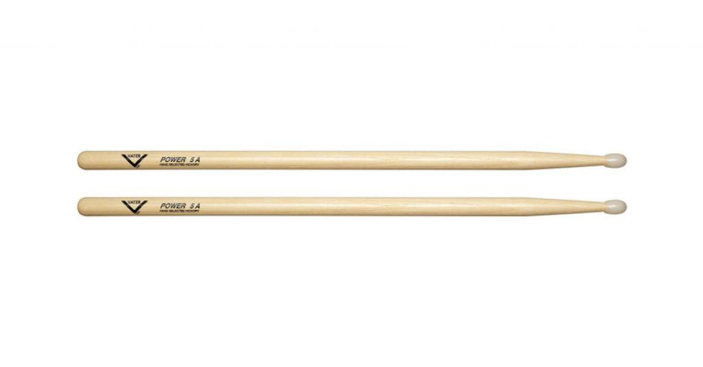 Vater Power 5A Nylon Tip Hickory Drum Sticks