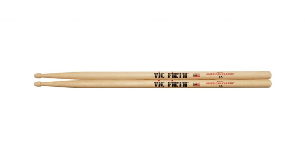 Vic Firth Drumsticks 5A with Teardrop-shaped tips