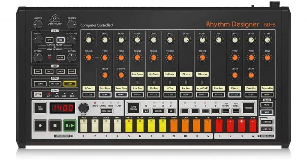 Behringer Classic Analog Drum Machine (RHYTHM DESIGNER RD-8)