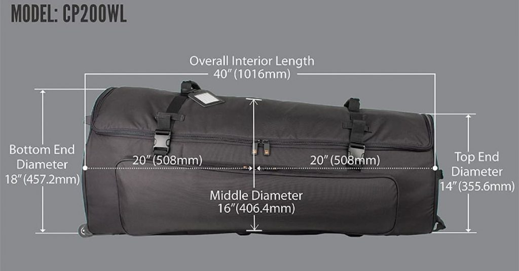 Multi-Tom Drum Bag with Wheels Sizes