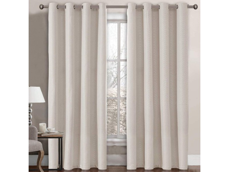 Linen Blackout Curtain 108 Inches Long for Bedroom