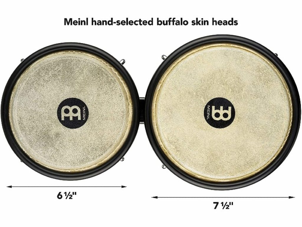 Meinl Bongos with Durable Synthetic All-weather Shells dimensions