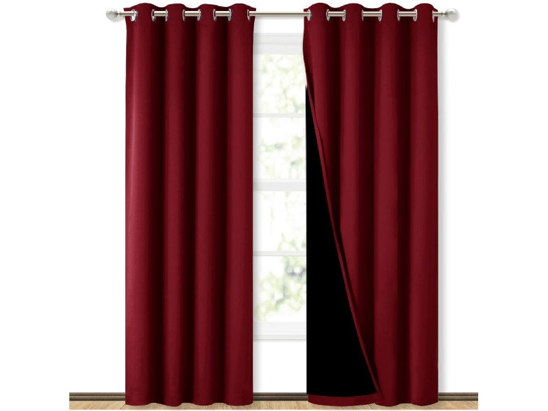 NICETOWN Blackout Curtains with Black Liner Backing