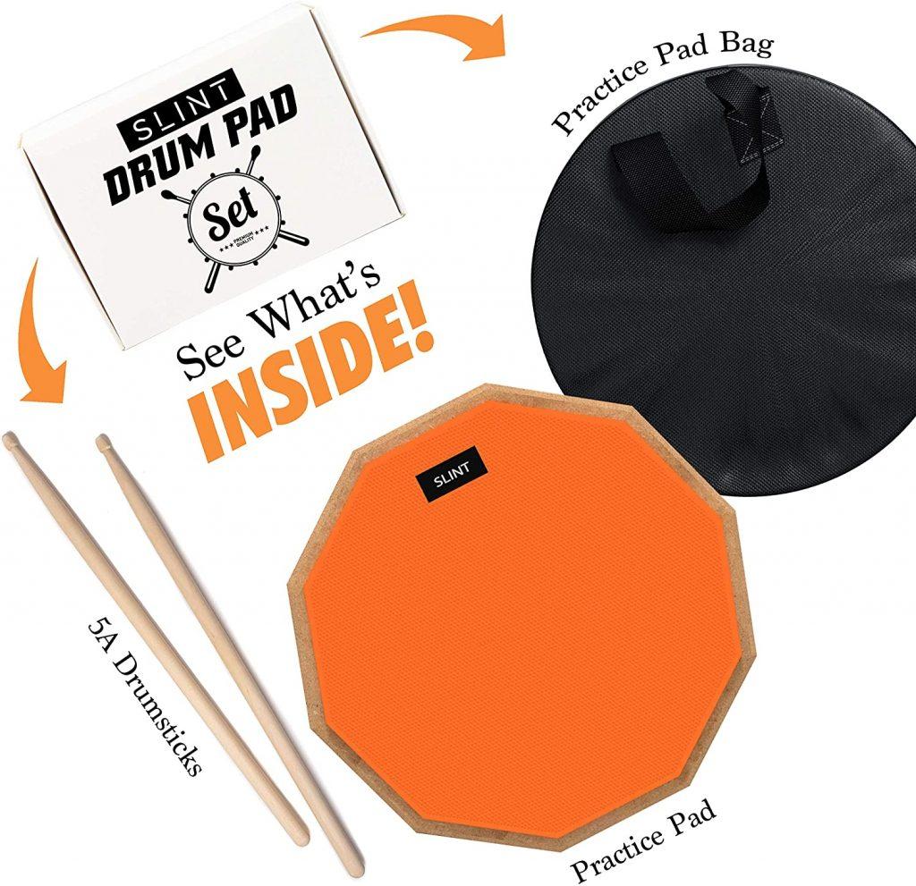 Slint Practice Pad & Drum Sticks Bundle 2