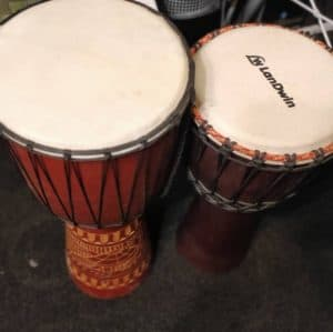 two djembe drums