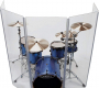 Drum Shield 6 Panel Drum Shield with Deflectors 5 Feet Tall DS5DL