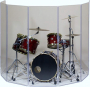 Drum Shield Drum Panels DS7DL 7 Foot X 12 Foot with Deflectors and Flexible Hinges