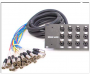 Seismic Audio - SARMSS-24x1530 - 24 Channel XLR TRS Combo Splitter Snake Cable - 15' and 30' XLR trunks