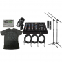 Sabian SSKIT 4 Piece Drum Mic & Mixer Kit